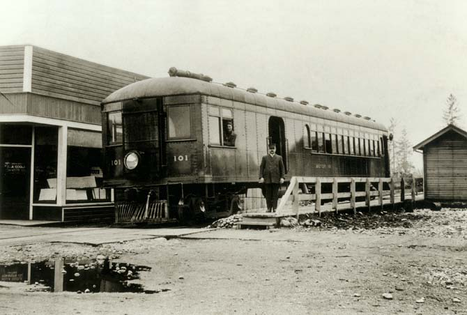 Railway spike Pacific Great Eastern Railway motor coach Caulfeild Area ... Pacific Railway Company